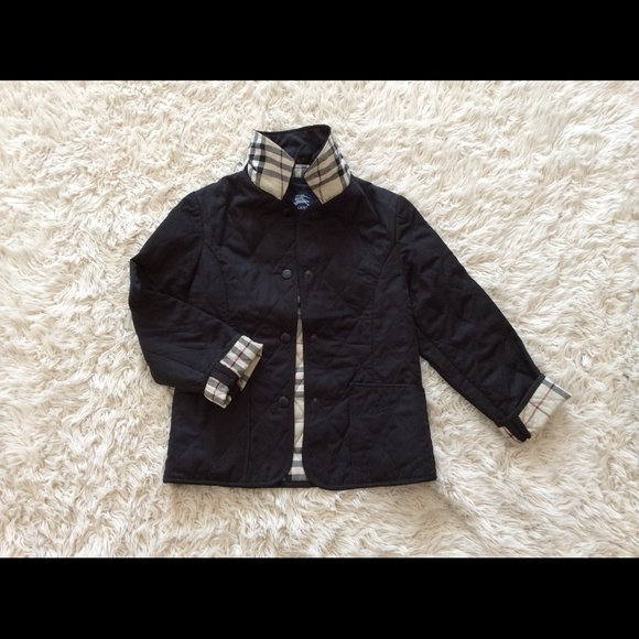 Authentic Burberry Kids Black Quilted Jacket