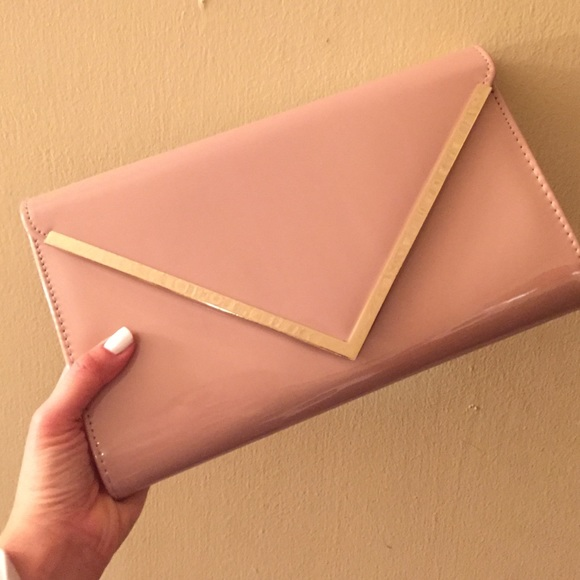 67% off ALDO Clutches & Wallets - ALDO blush envelope clutch from ...