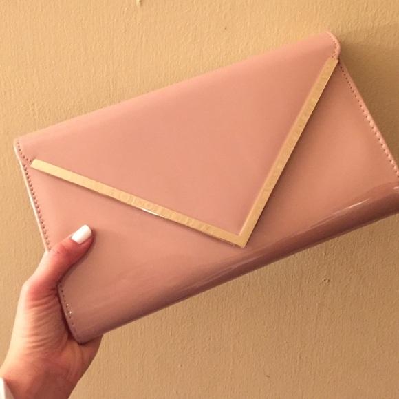 67% off ALDO Clutches & Wallets - ALDO blush envelope clutch from ...