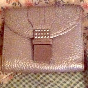 Silver leather Adrienne Vittadini wallet