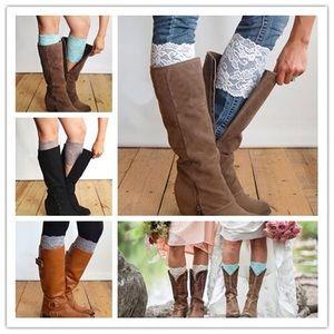 Lace boot cuffs - bundle of three pairs