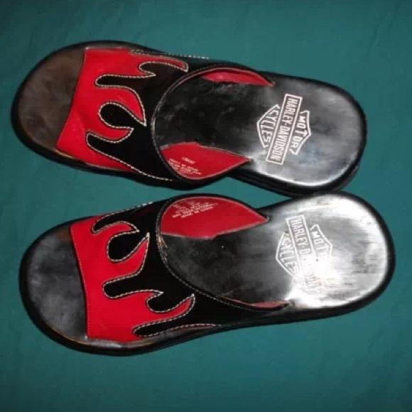 Harley Davidson Flame Platform Sandals