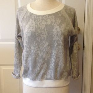 Nordstrom rack Liberty Love grey cropped top