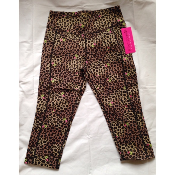 15d83536331a Betsey Johnson Pants | Leopard Rose Yogacrop Legging | Poshmark