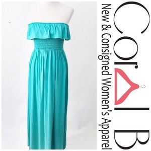 Dresses & Skirts - Aqua Ruffle Maxi Dress
