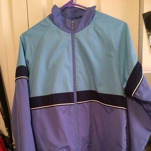 Jackets & Blazers - Blue color block windbreaker