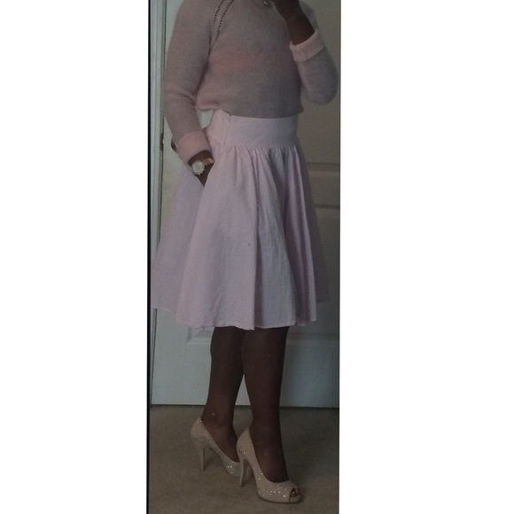 391a9ac841 Ralph Lauren Skirts | Pink And White Seersucker Skirt | Poshmark