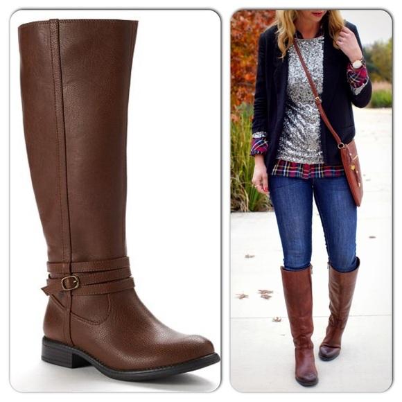Lauren Conrad Shoes Tall Riding Boots Cognac 7 Poshmark