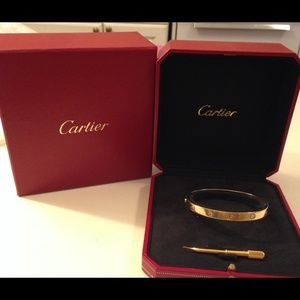 Authentic cartier love bracelet gold diamond 18