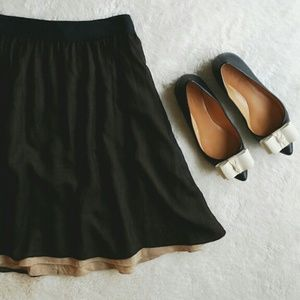 {club monaco} Tiramisu Layered Skirt