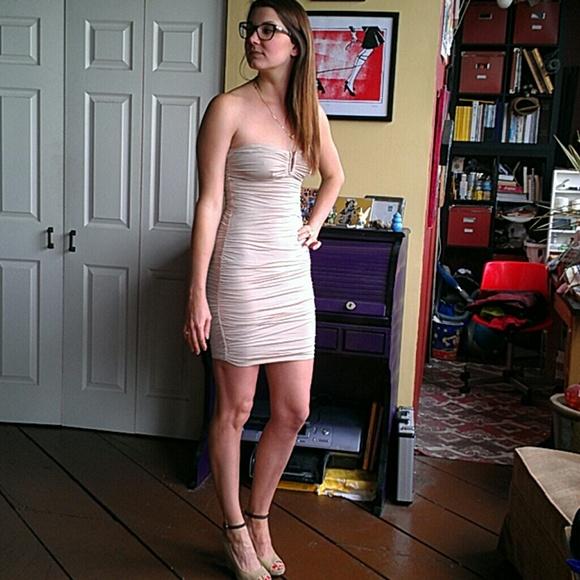 Forever 21 Dresses Nude Strapless Skintight Mini Tube