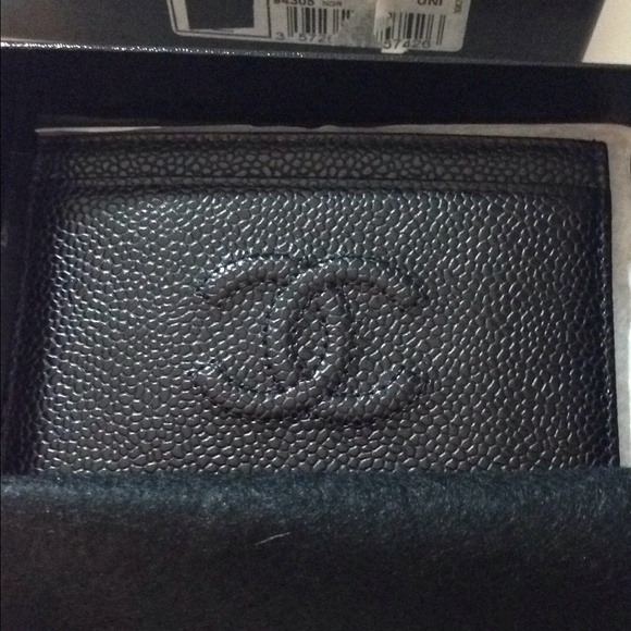 CHANEL Bags - SOLD Chanel Black Cavier Card Case