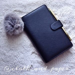 Cloth & Paper Accessories - BLACK Handbag Pouf Charm Poof Puff