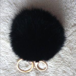 Cloth & Paper Accessories - BLACK Handbag Pouf Charm Poof Puff