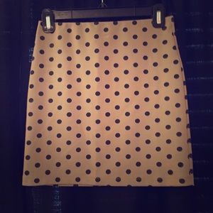 Tan and Black polka dot skirt