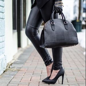 Zara leather zipper gloves
