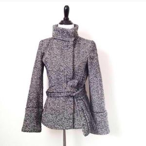 Zara gray tweed jacket in perfect condition!