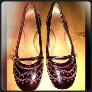 Nurture Shoes - ♦️NURTURE♦️Burgundy Mary Jane Oxford Flats