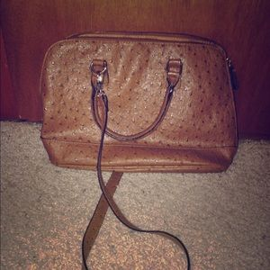Ostrich Italian Double Handed Satchel .