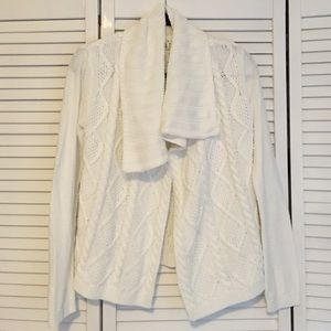 CAbi cable knit cardigan.