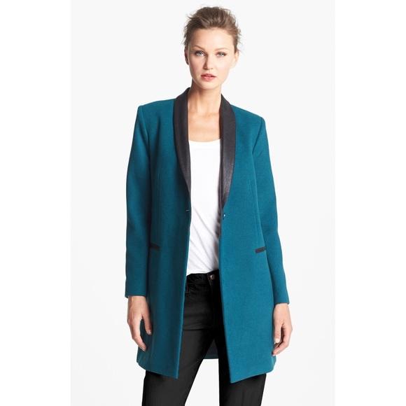 BB Dakota Coat w/ Leather Lapels