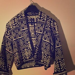 Tribal print blazer/jacket