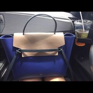 Celine - Celine Small Belt Bag in Tri-Color Smooth Leather from ...