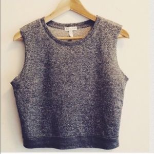 Leith Tops - Seen On Shay Mitchell♥️Gray Sparkly Sleeveless Top