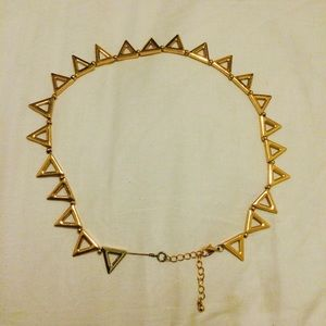 Rose Gold Triangle Spiked Necklace