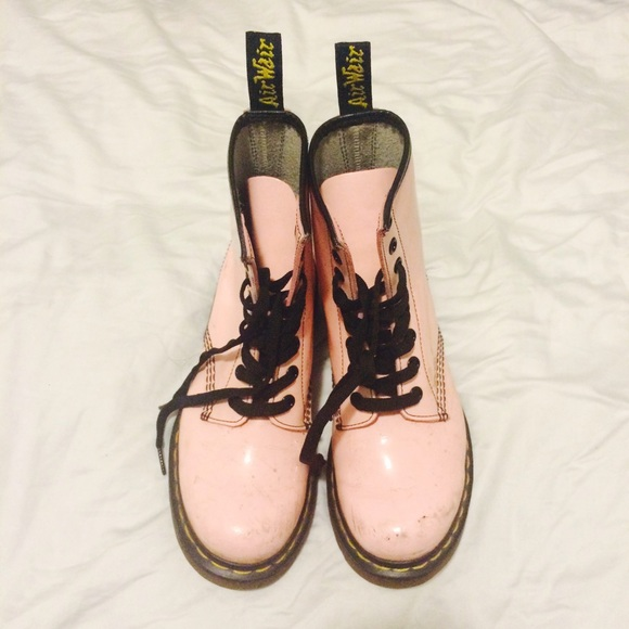 Dr. Martens Shoes - *RARE* Dr. Martens Pastel Pink Pascal Combat Boots
