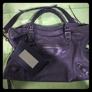 BALENCIAGA GRIS TARMAC CLASSIC CITY BAG AUTHENTIC