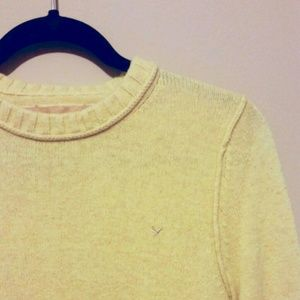 SOLD -AE Mustard Yellow Crew Neck Sweater - Size M