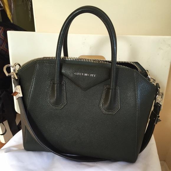306695ec01 Givenchy Handbags - Givenchy Antigona small dark dark green