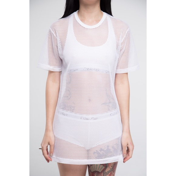 20% off Dresses & Skirts - White mesh t-shirt dress from Sofie's ...