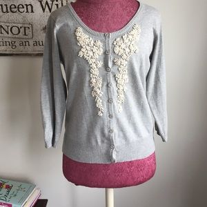 Anthropologie Sweaters - Nick & Mo Embroidered Bouquet Cardigan