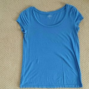 Blue T-shirt from The Loft. Size XS