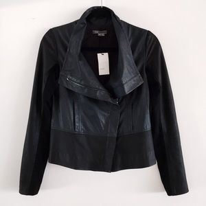 Vince Jackets & Blazers - Vince Drape Paper Leather Jacket