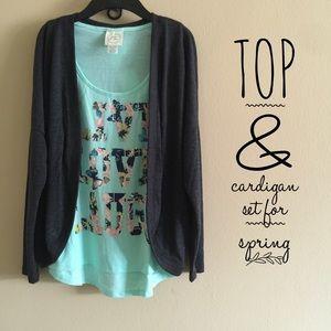 Tops - NWT Top & Cardigan Set