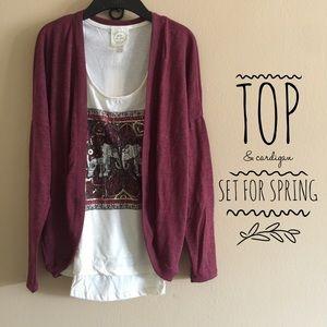 Tops - Top & Cardigan Set