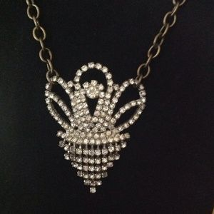 💖SOLD💖Handmade vintage rhinestone necklace