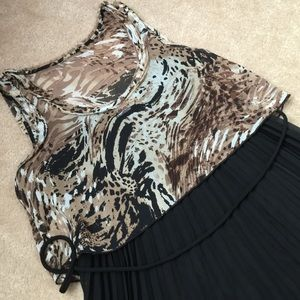 New black pleated dress