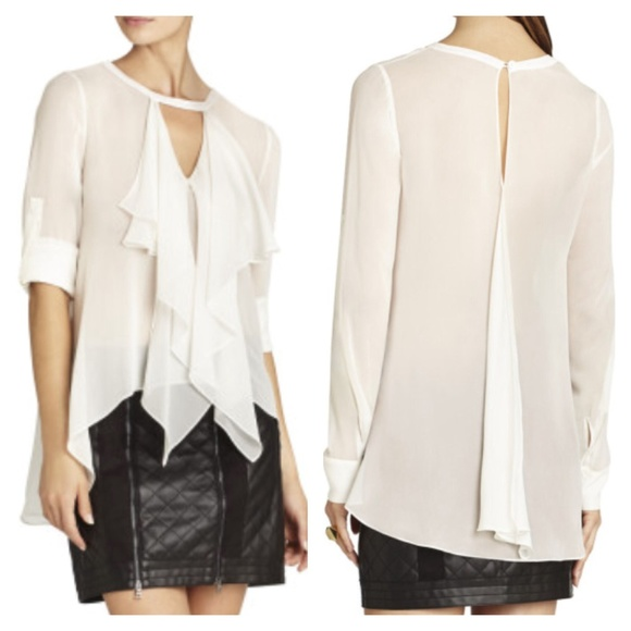 White Sheer Silk Blouse 115