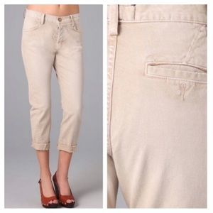 Current/Elliott Beige The Shoppe Trousers