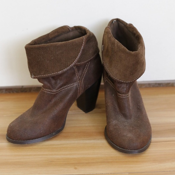 mudd brown ankle boots from s closet on poshmark