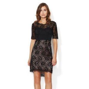 NWT! BCBGMAXAZARIA Lila Black Lace Cocktail Dress