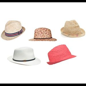 Accessories - Coral straw hat