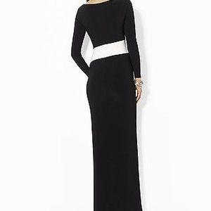 Ralph lauren colorblock formal dress