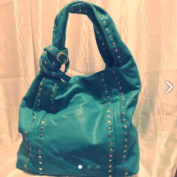 68% off Handbags - Vegan leather turquoise hobo bag from