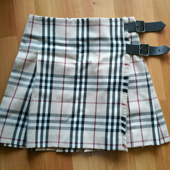 70% off Burberry Dresses & Skirts - Burberry Plaid Buckle Skirt ...