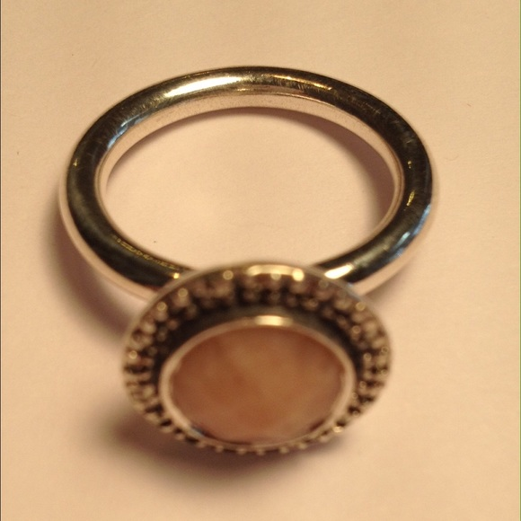 921dab7c1 Authentic Pandora Pink Opal & Pyrite Ring. M_5500d5719c6fcf620c000b00
